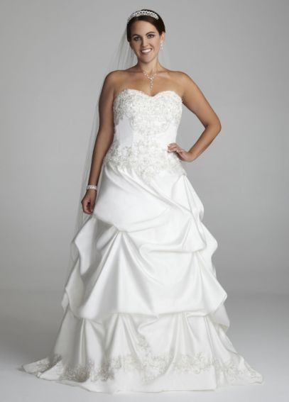 Strapless Sweetheart Pick-Up Ball Gown  AI13012341
