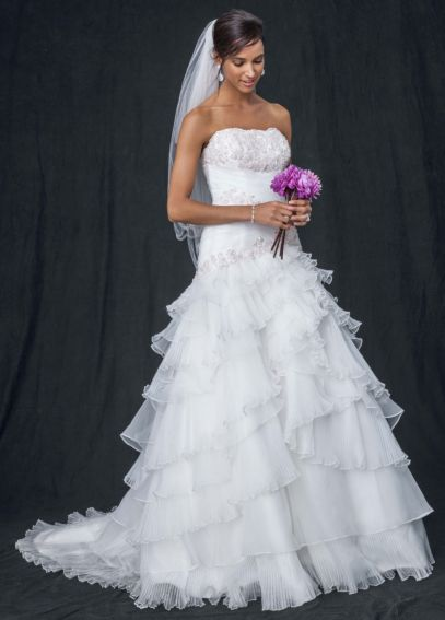 As-Is Chiffon Ruffled Plus Size Wedding Dress AI13012516