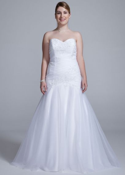 Sweetheart Trumpet Beaded Applique Gown AI13012583