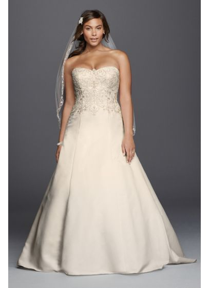 Plus Size Wedding Dress Ai13030014 Long A Line