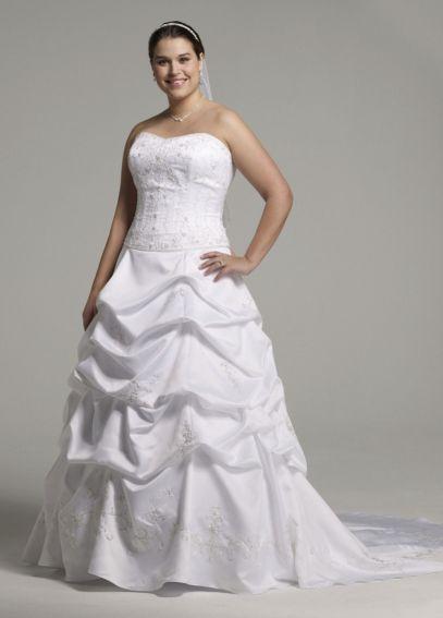 Satin Ball Gown with Beaded Embroidery AI14010195