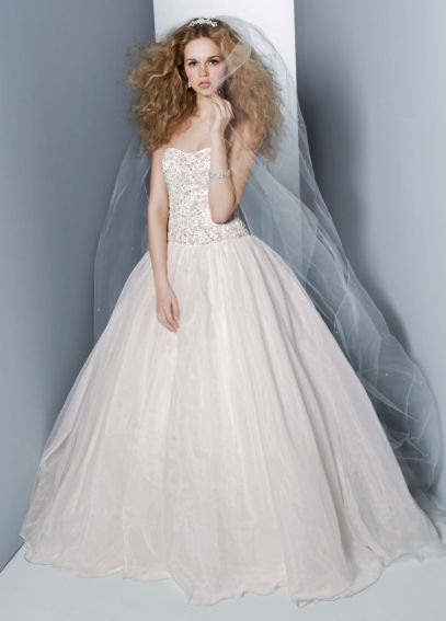 Organza Embroidered Bodice Ball Gown AI14010364