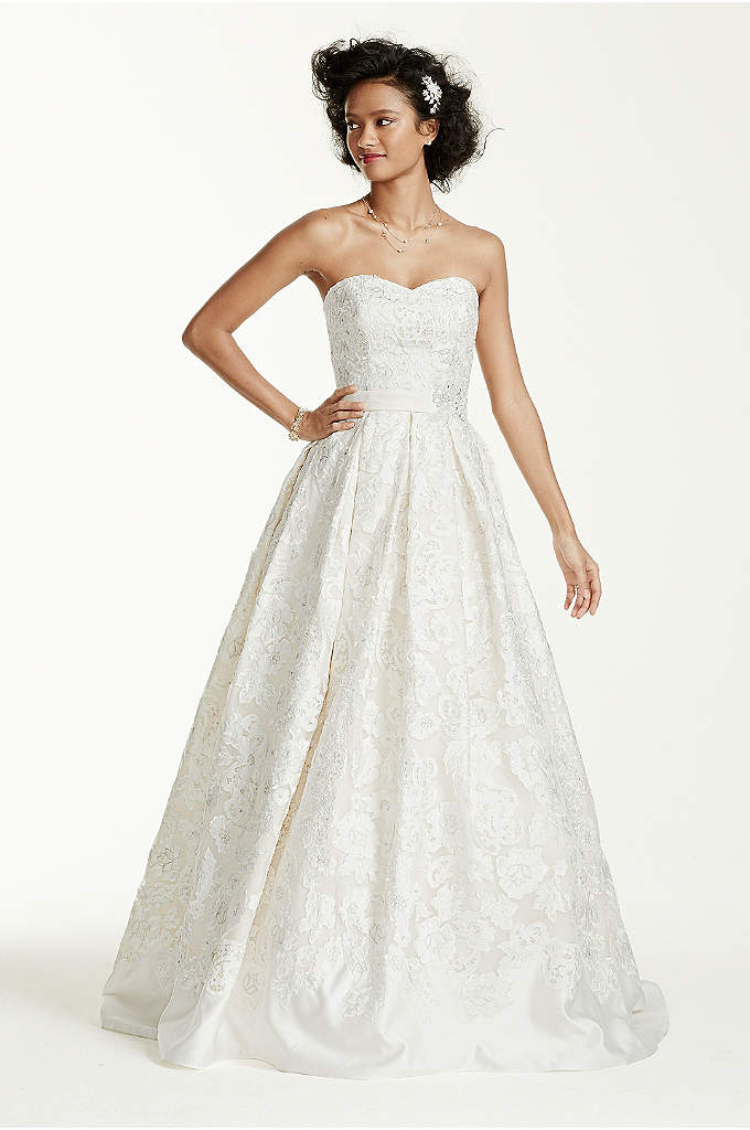 As-Is Laser Cut Organza Wedding Dress - Designed with grace and luxury in mind, this
