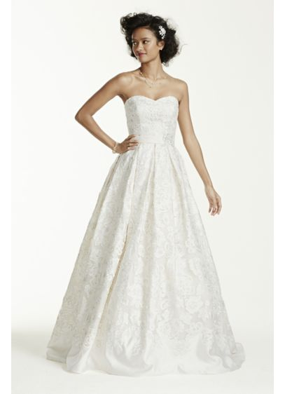 Long Ballgown Wedding Dress - Oleg Cassini