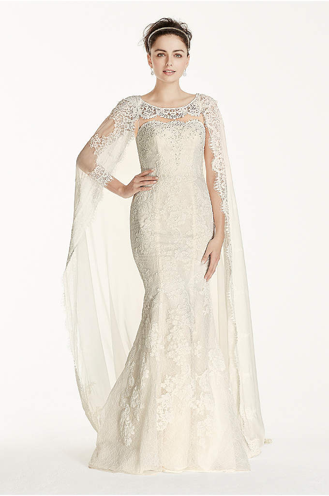 As-Is Oleg Cassini Boatneck Wedding Dress - Make a statement on your wedding day with