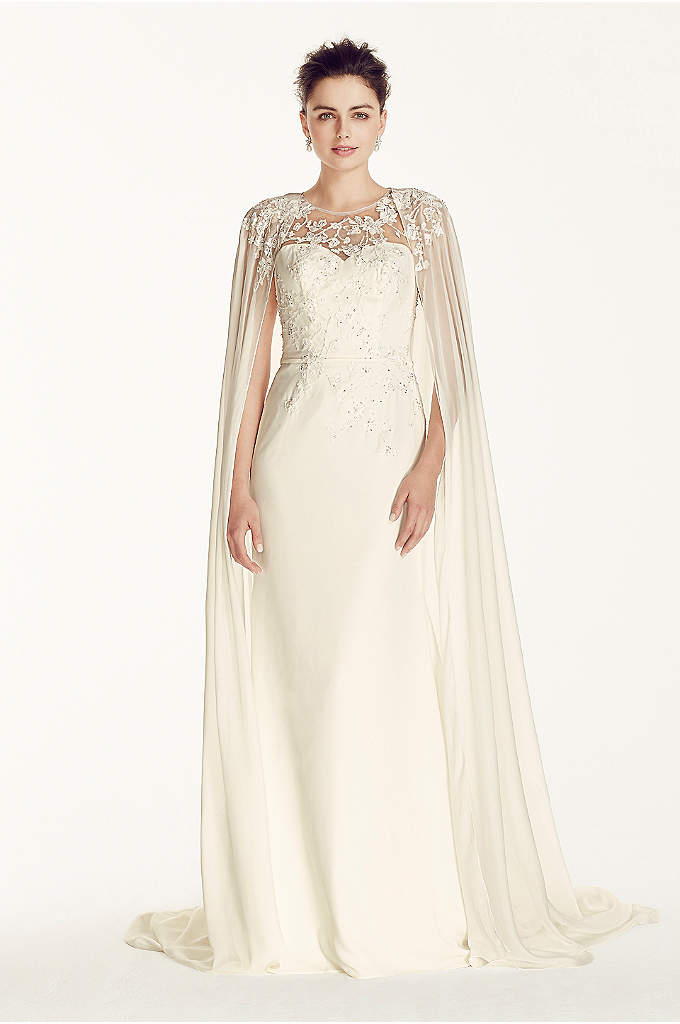 As-Is Crepe Wedding Dress - This dress has that regal feel for your