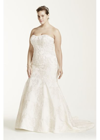 Strapless Satin Trumpet Gown with Lace AI14030103