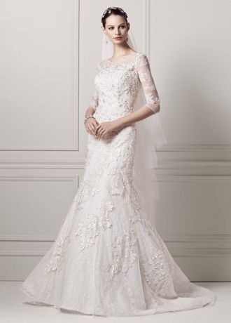 Long Sleeve Lace Trumpet Wedding Dress
