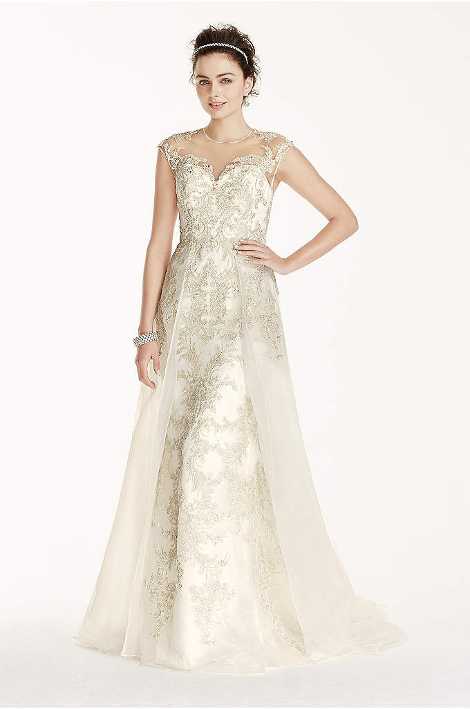 As-Is Beaded Lace with Tulle Wedding Dress - A magical feeling will radiate the room in