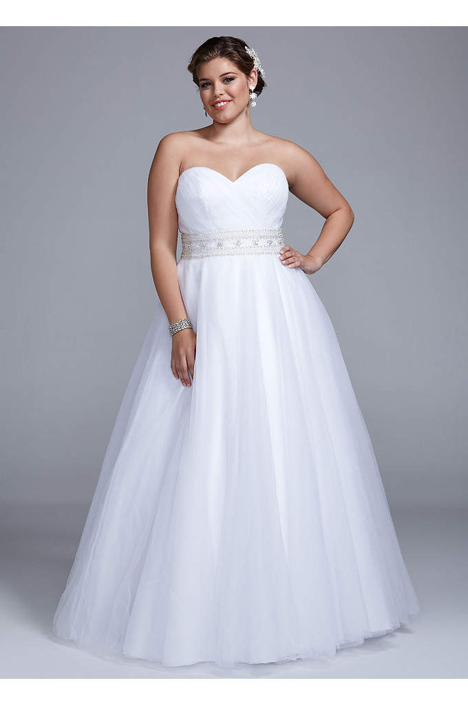 Strapless Tulle Ball Gown - This ultra luxe ball gown combines fairy-tale romance
