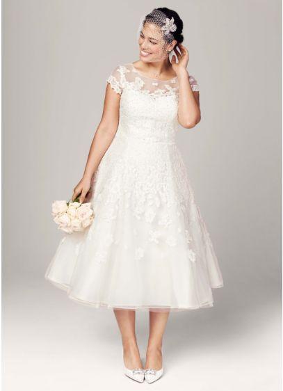 Short Ballgown Wedding Dress -