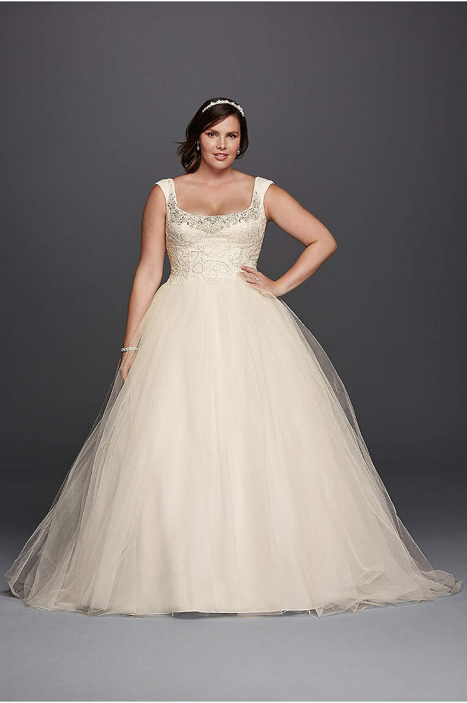 As-Is Off the Shoulder Lace Wedding Dress - Inspired by estate jewelry and sewn with seven