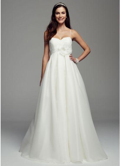 Spaghetti strap empire waist ball gown david 39 s bridal for Spaghetti strap ball gown wedding dress
