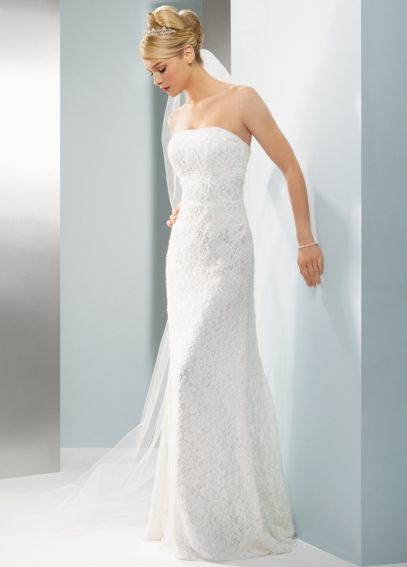 Allover Beaded Lace Sheath Gown with Empire Waist. AI16020046