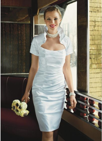Short Sheath Wedding Dress -