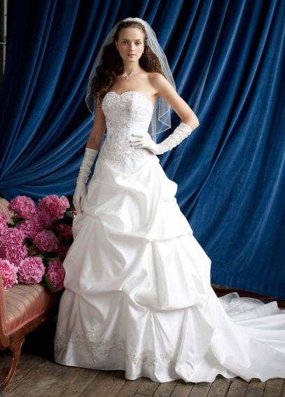 Petite Strapless Sweetheart Pick-Up Ball Gown  AI19010188