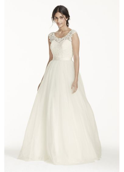 As-Is Petite Tulle with Lace Wedding Dress  AI19010257