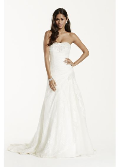 Petite Lace A-line Gown with Side Split AI19030078