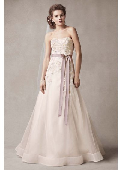 As-Is Wedding Dress with Two Toned Skirt AI25070449