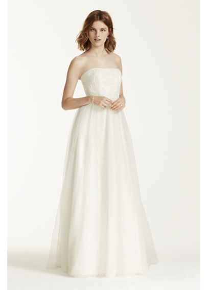 As-Is Melissa Sweet Wedding Dress with Banded Lace AI25070453