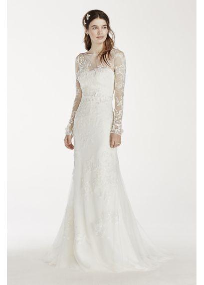 Melissa Sweet Long Sleeved Lace Wedding Dress Davids Bridal