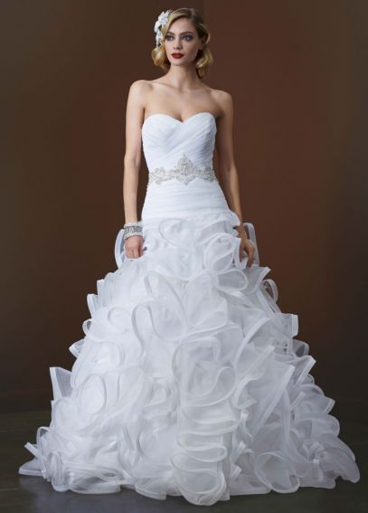 Ball Gown with Embellished Waist and Ruffled Skirt AI26010043