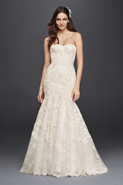 As-Is Corset Bodice Mermaid Lace Wedding Dress | David's Bridal