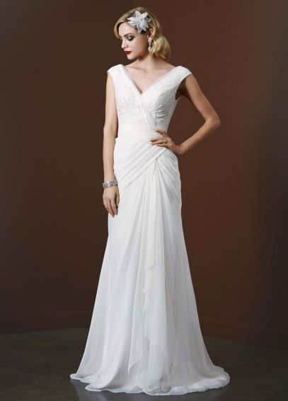 Chiffon Sheath Gown with Sequin Tulle Bodice AI26020079
