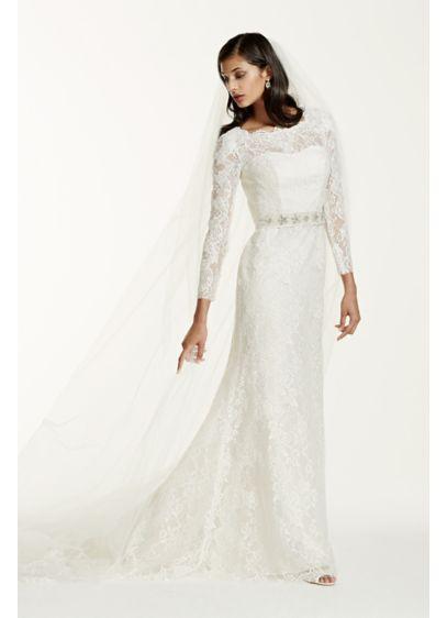 Long Sheath Wedding Dress -