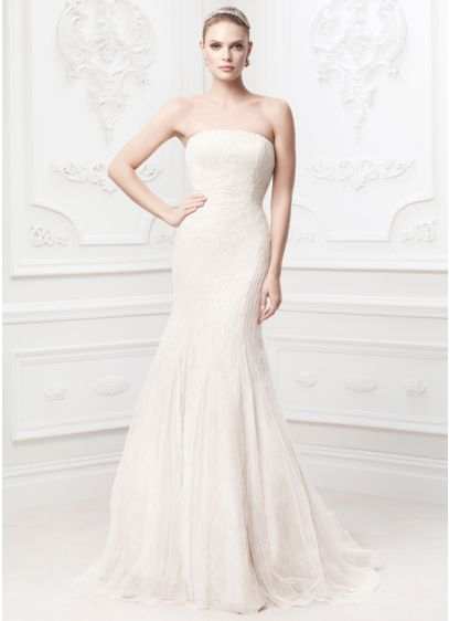 Truly zac posen embroidered wedding dress david 39 s bridal for Zac posen wedding dress price