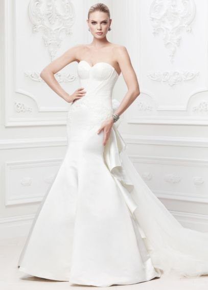 Truly Zac Posen Strapless Satin Wedding Dress AI34010003