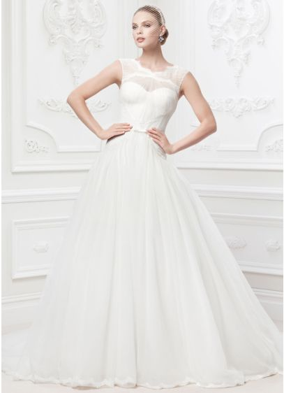 As is truly zac posen lace and tulle wedding dress david for Zac posen wedding dresses sale