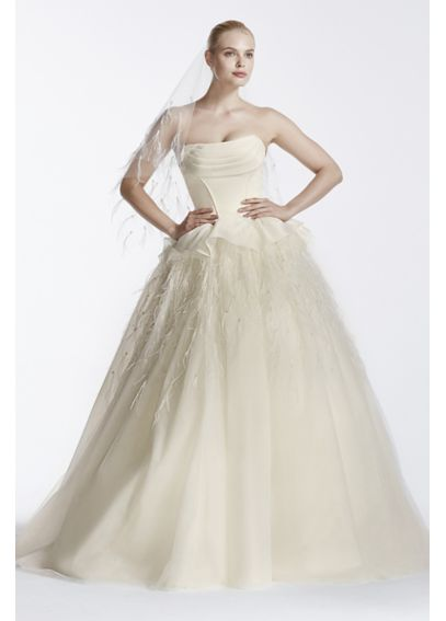 As-Is Truly Zac Posen Corset Organza Wedding Dress AI34010034