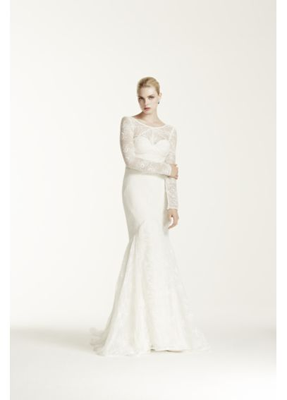 As-Is Long Sleeve Lace Trumpet Wedding Dress AI34030001