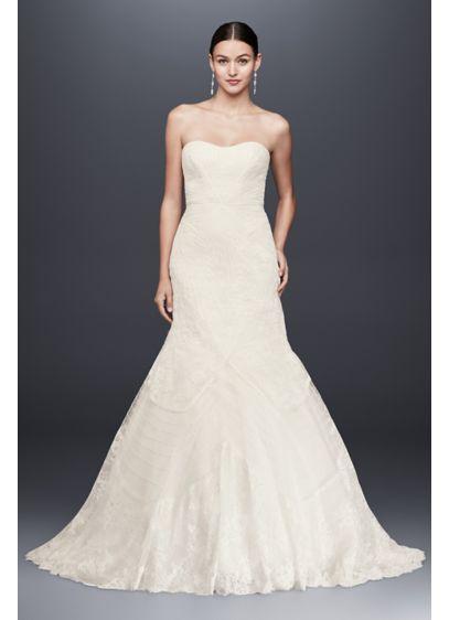 As is geometric corded wedding dress david s bridal