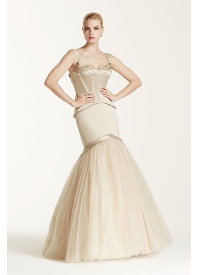 As is truly zac posen tank bodice wedding dress davids for Zac posen wedding dresses sale
