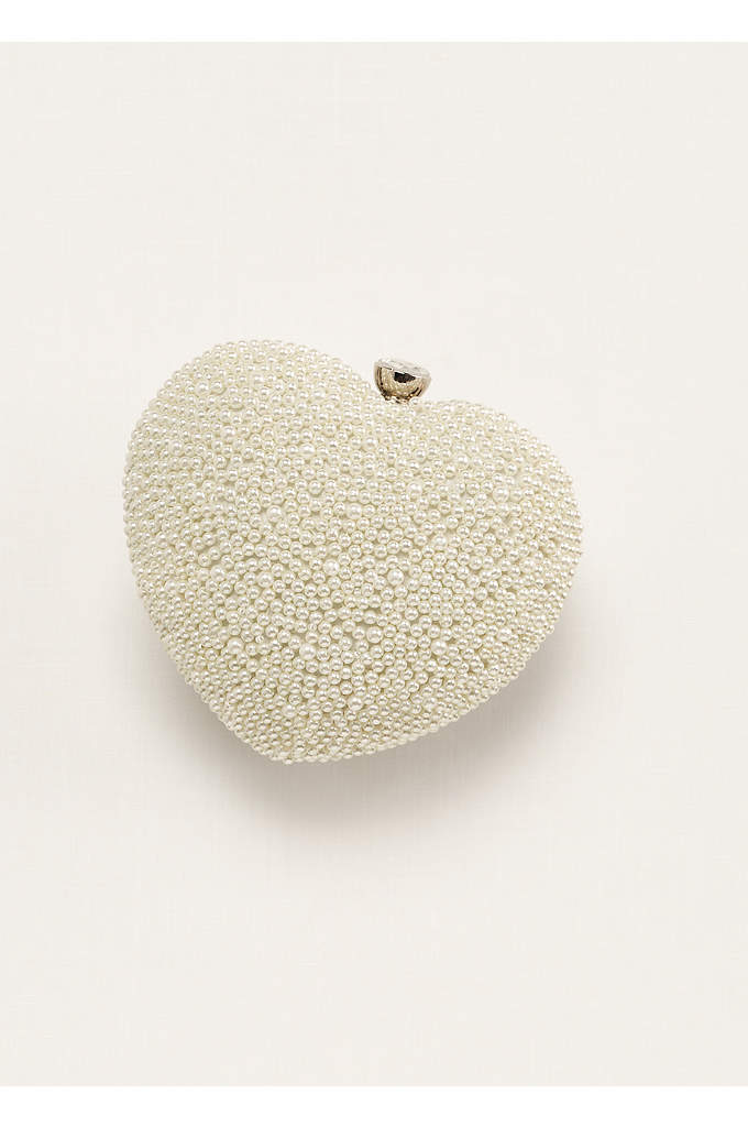 Expressions NYC Beaded Heart Clutch