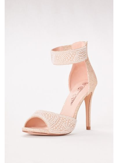 Blossom White (High Heel Pearl-Embellished Peep Toe Sandals)