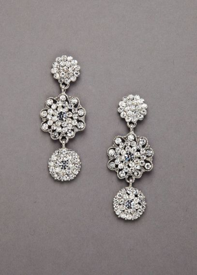 Pave Crystal 3 Drop Circle Earring AL1719