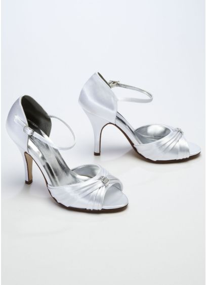 Criss Cross Satin Sandal - Wedding Accessories
