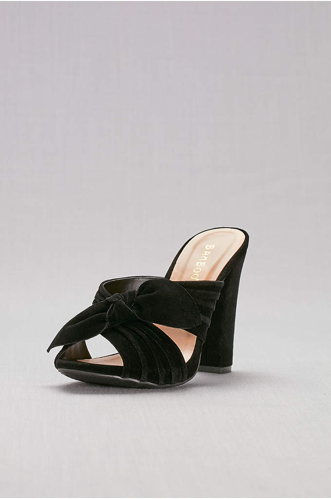 Knotted Faux-Suede Mules - These knotted faux-suede mules add a cool vibe