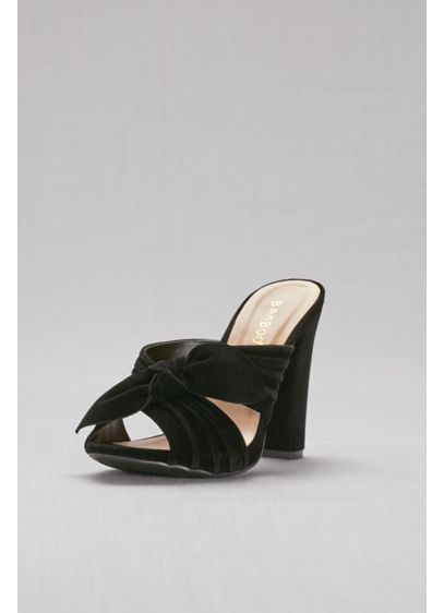 Bamboo Beige (Knotted Faux-Suede Mules)