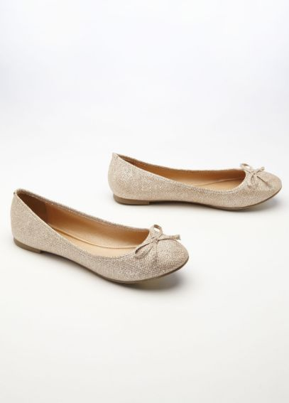 Glitter Ballet Flat with Bow Detail ALYNN2