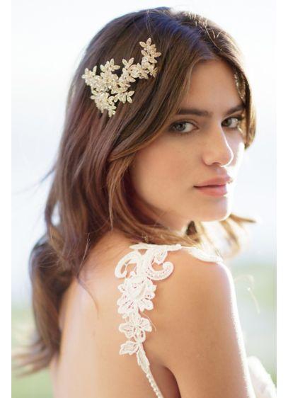 Crystal Laurel Barrette - Wedding Accessories