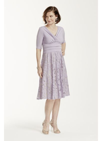 Short A-Line Elbow Sleeves Mother and Special Guest Dress - Sangria