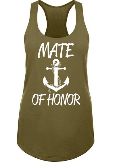 Anchor Motif Mate of Honor Racerback Tank Top - Wedding Gifts & Decorations