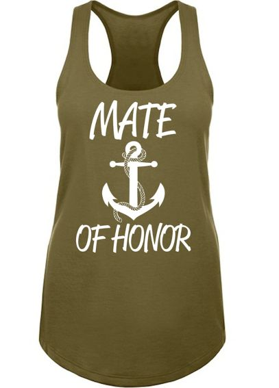 Anchor Motif Mate of Honor Racerback Tank Top ANCH1533-MAT