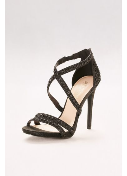 Crisscross Strappy Heels with Crystals - Wedding Accessories