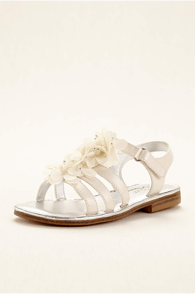 Touch of Nina Chiffon Flower Girl Gladiator Sandal - Update your little one's summer attire with this
