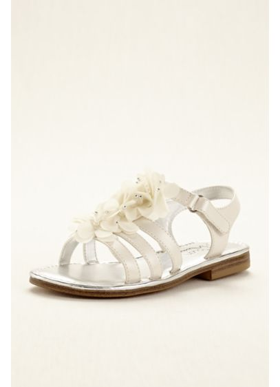 Touch of Nina Ivory (Touch of Nina Chiffon Flower Girl Gladiator Sandal)